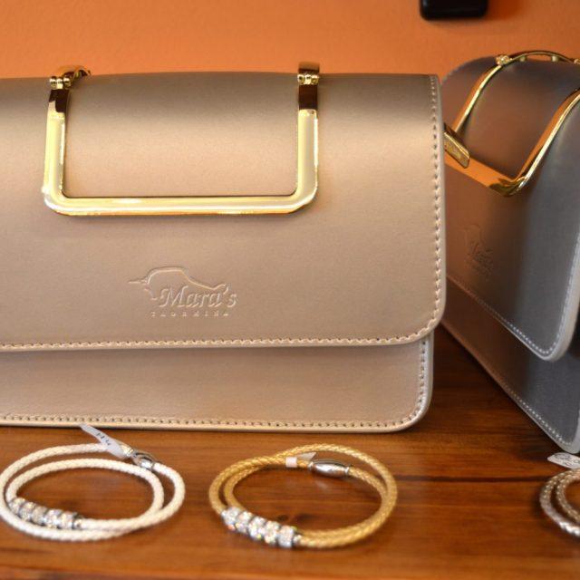 Mara's handmade leather items